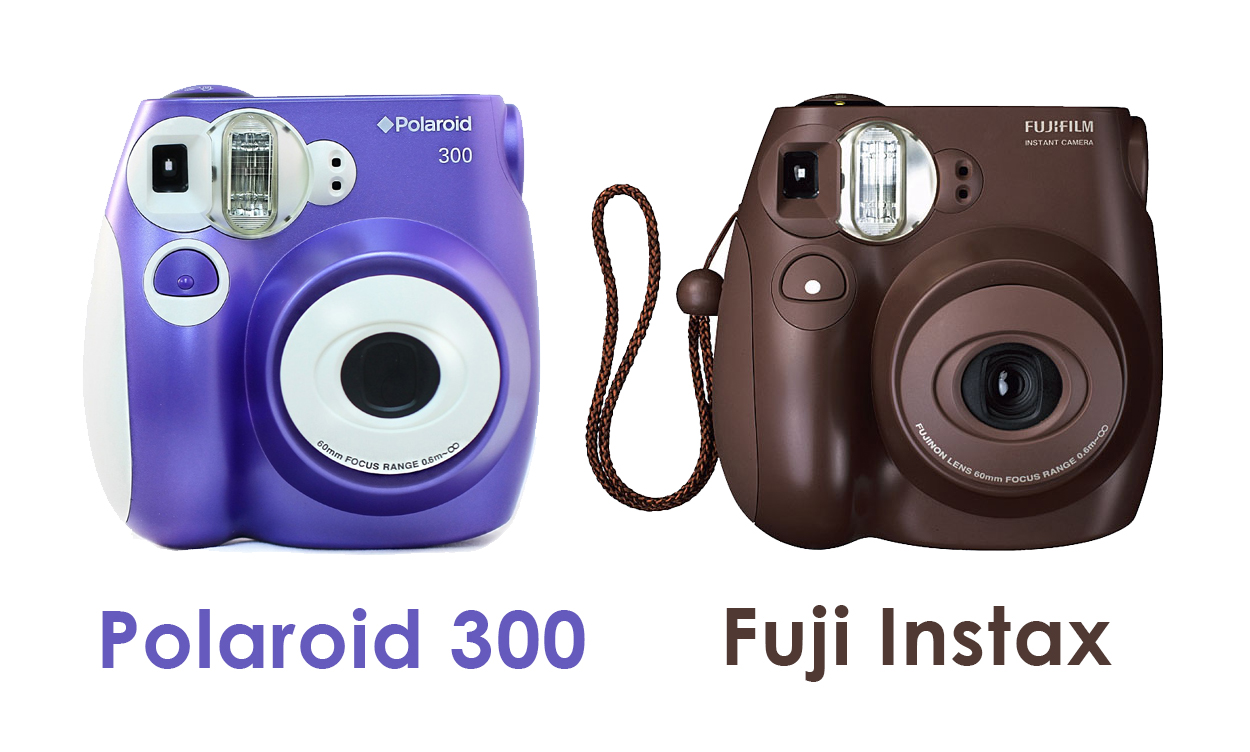 Cámaras instantáneas Polaroid 300 y Fuji Instax